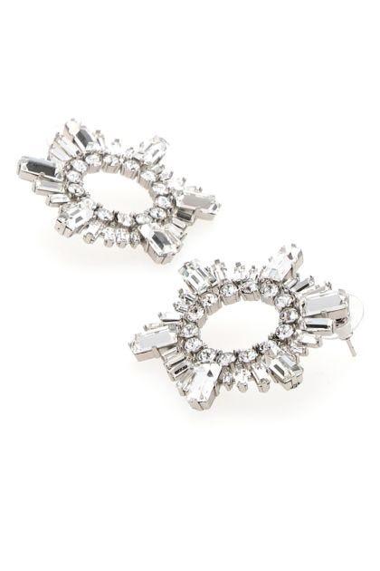 Embellished metal mini Begum earrings