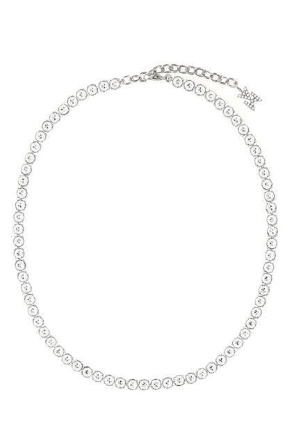 Silver metal Tennis necklace