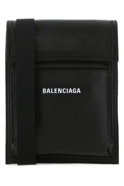 Black leather Explorer crossbody bag