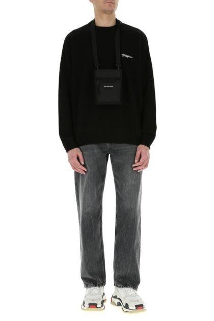 Black nylon Explorer crossbody bag
