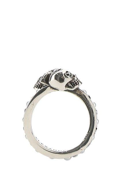 Embellished brass ring