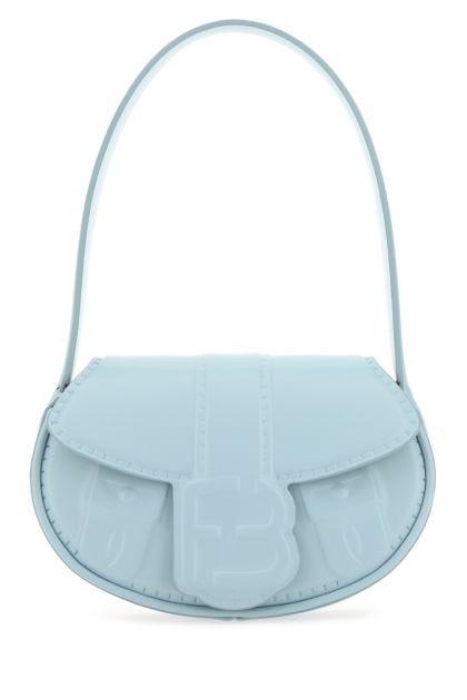 Pastel light blue leather My Boo handbag