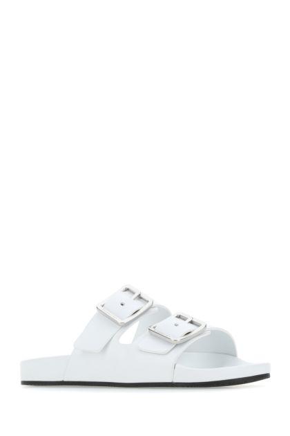 White nappa leather Mallorca slippers
