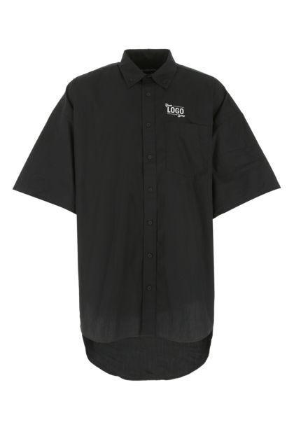 Black polyester blend shirt