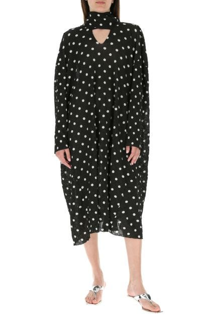 Printed viscose blend oversize dress