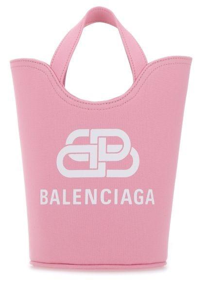 Pink canvas Wave XS bucket bag