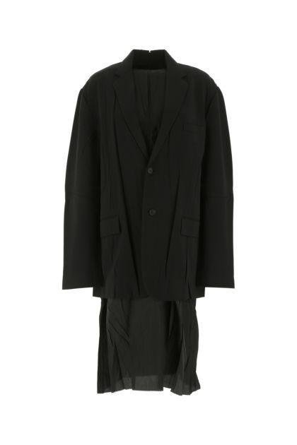 Black stretch polyester dress