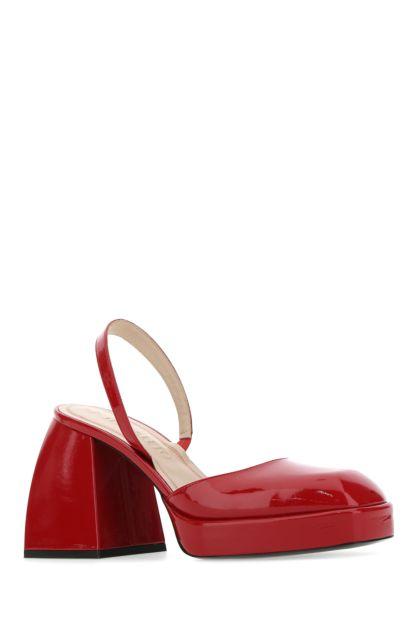 Tiziano red leather Bulla Jones pumps