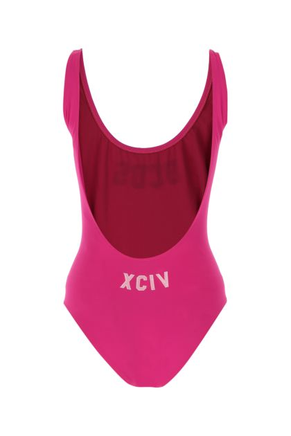 Fuchsia stretch nylon swimsuit