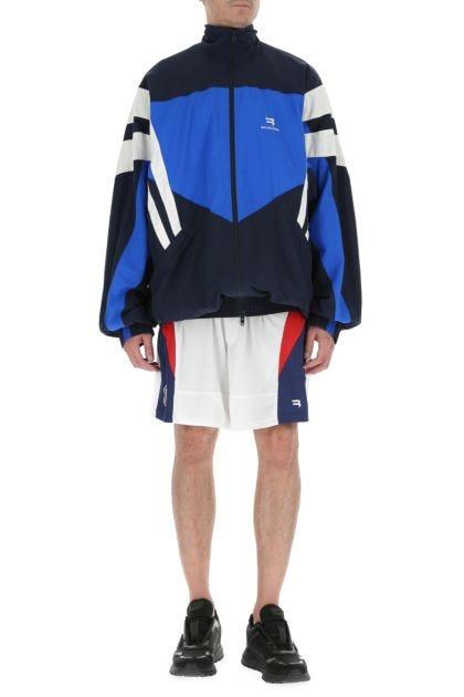 Multicolor polyester bermuda shorts