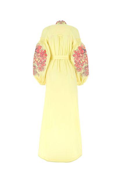Pastel yellow poplin Hortensia dress