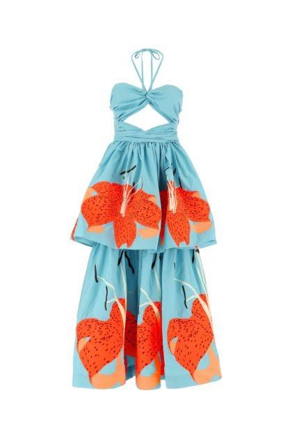 Embroidered cotton Lilies dress