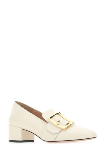 Ivory leather Janelle pumps