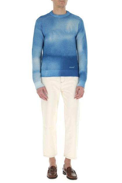 Blue wool Dusty Road sweater