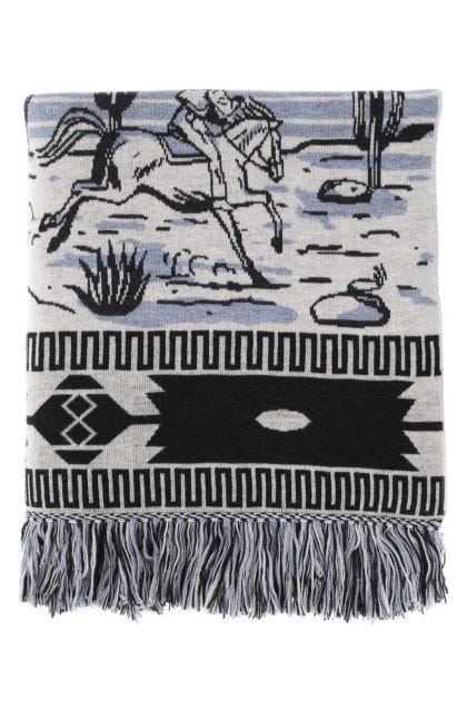 Embroidered wool Ride Your Dreams blanket