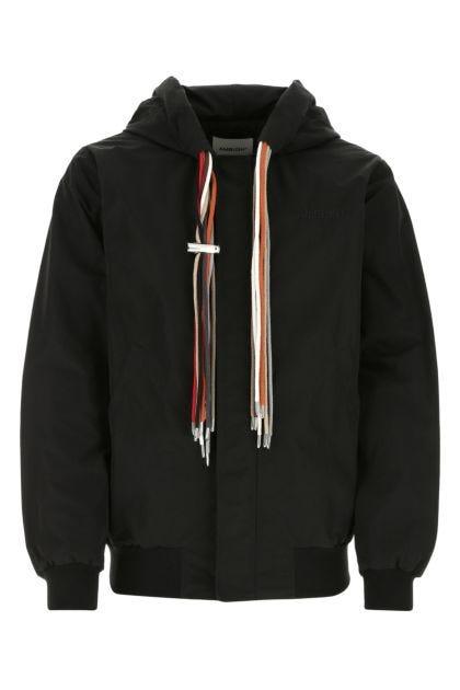 Black nylon blend jacket