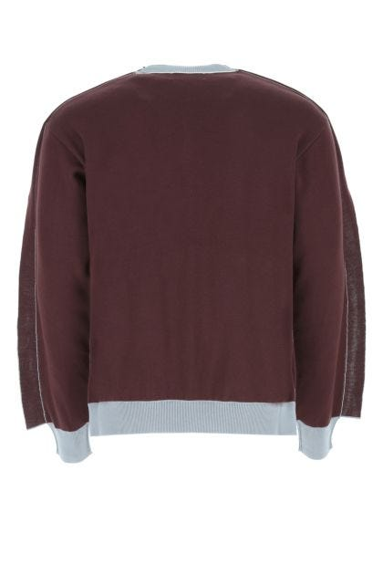 Two-tone cotton blend sweater