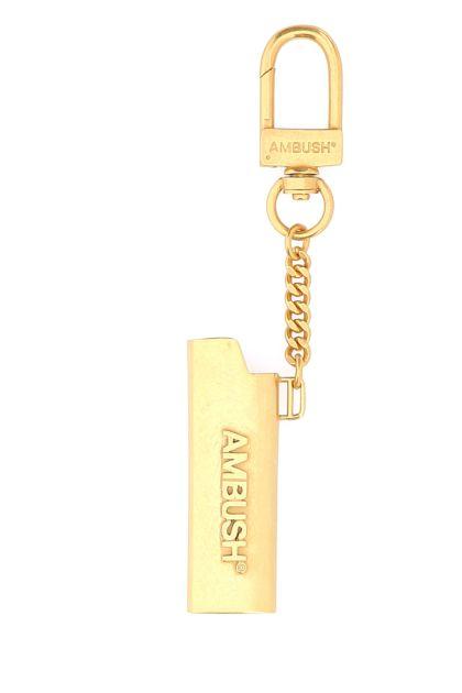 Gold metal key ring