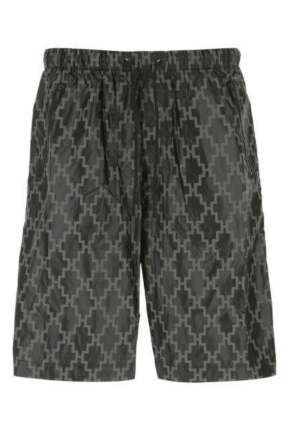 Printed nylon bermuda shorts
