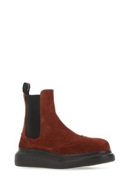 Brick suede Chelsea Hybrid ankle boots
