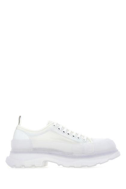 White fabric Tread Slick sneakers
