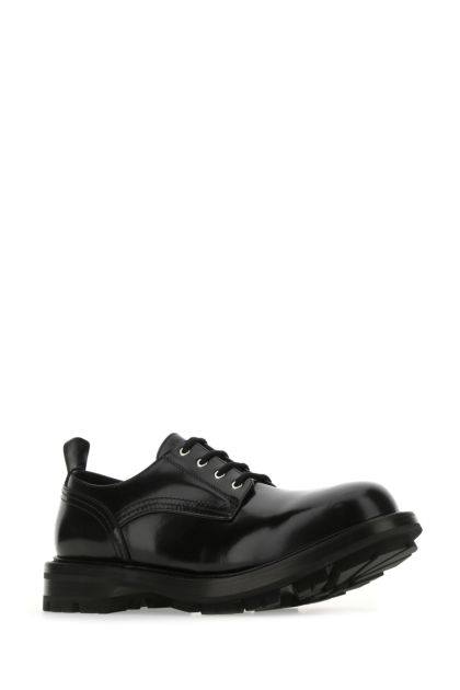 Black leather Worker lace-up shoes