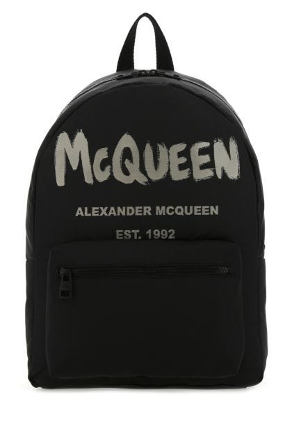 Black canvas Metropolitan backpack