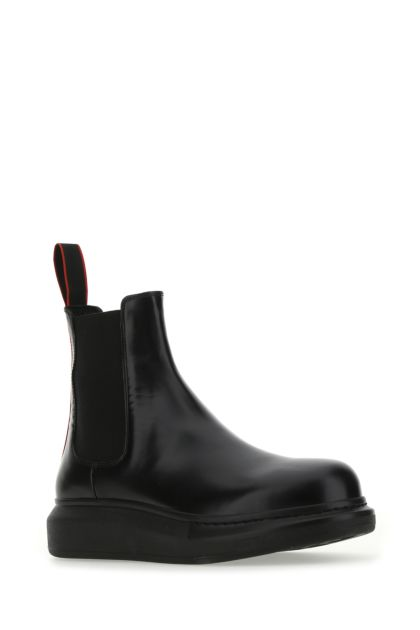 Black leather Chelsea Hybrid ankle boots
