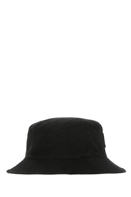 Black cotton hat