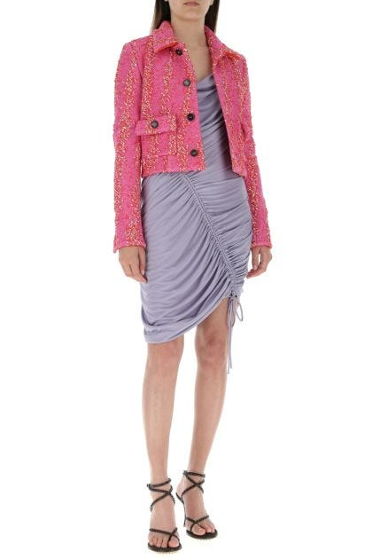 Multicolor stretch bouclé blazer