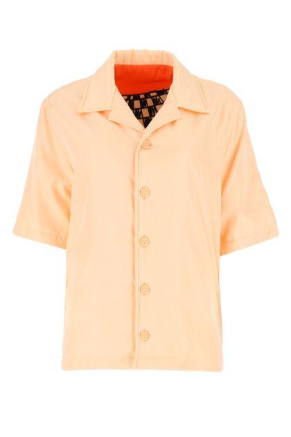 Peach viscose blend padded shirt