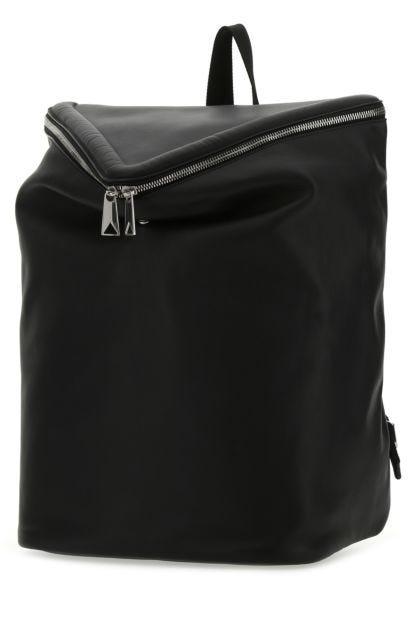 Black nappa leather Beak backpack