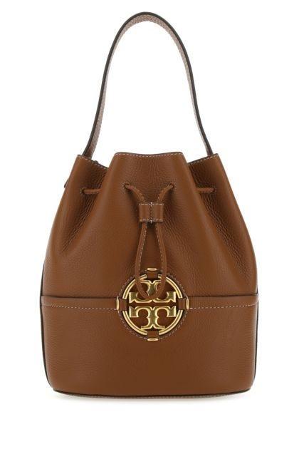 Brown leather Miller bucket bag