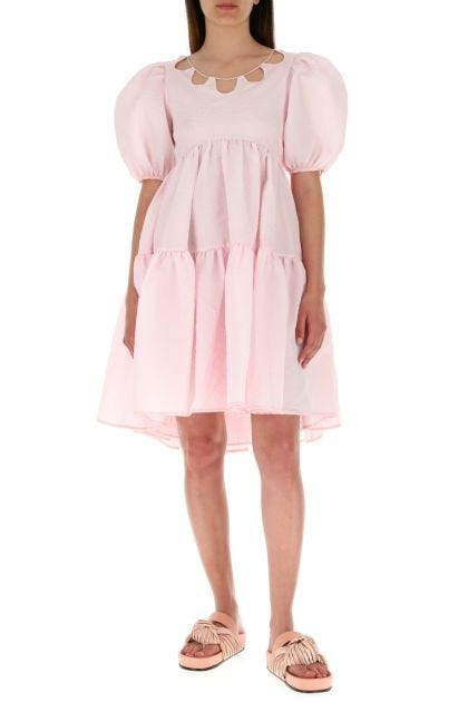Pink polyester blend dress
