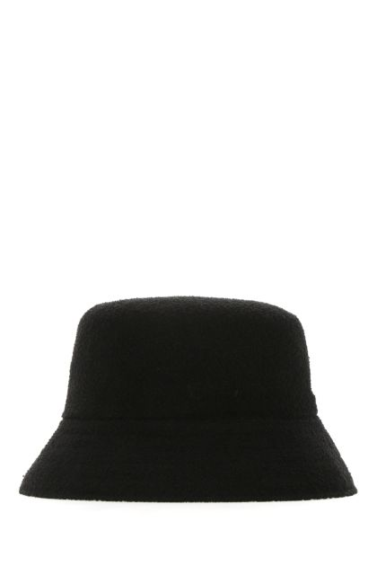 Black leather Bermuda hat