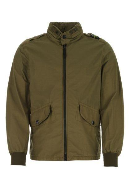 Army green nylon jacket