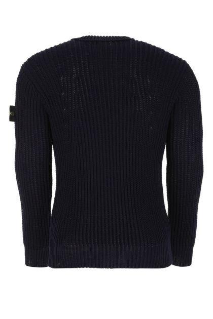 Midnight blue cotton blend sweater