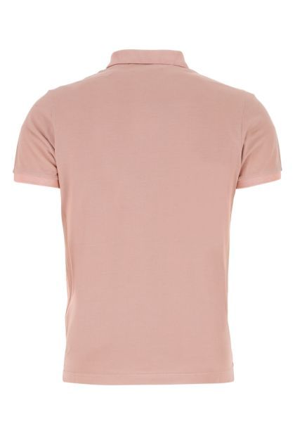 Antiqued pink piquet polo shirt