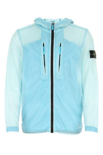 Pastel light blue nylon jacket