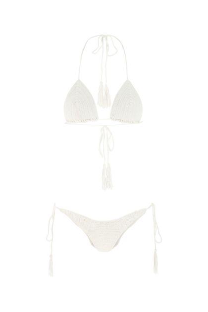 White stretch microfiber Gede bikini