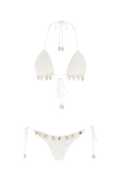 White stretch microfiber Tirtha bikini