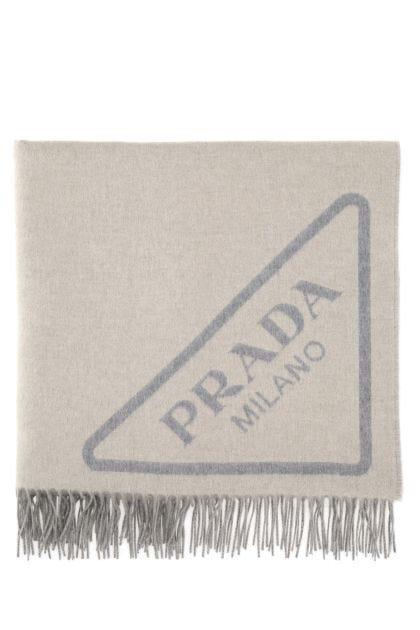Melange sand cashmere blanket
