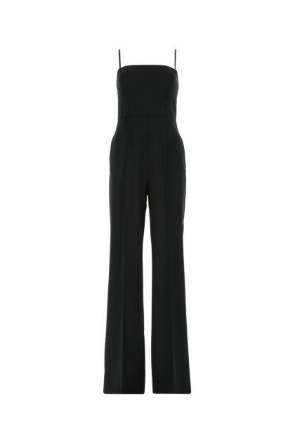 Black stretch wool Nilo jumpsuit