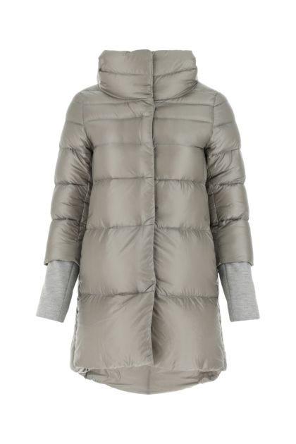 Grey nylon down jacket