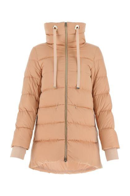 Powder pink polyester down jacket