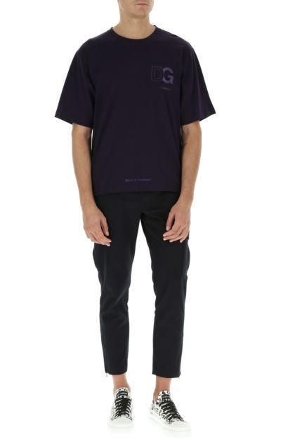 Purple cotton t-shirt