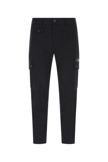 Black stretch gabardine pant