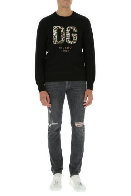 Grey stretch denim jeans