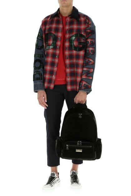 Black nylon blend Sicilia backpack
