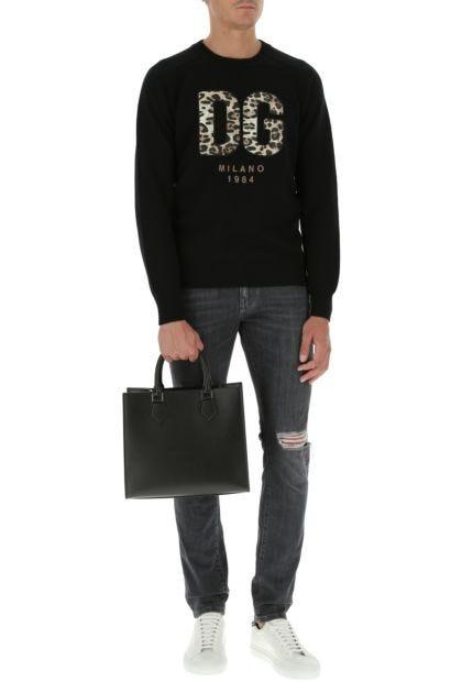 Black leather Edge handbag